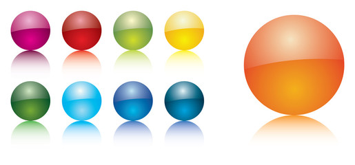 Glossy colorful orbs