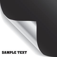 Vector black page corner