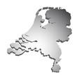 Niederlande Holland 3D Karte