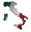 Italien Karte 3D Flagge