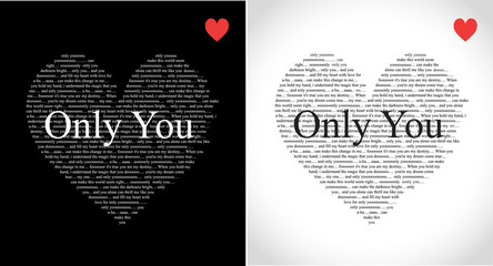 Valentines day typographic heart greeting card