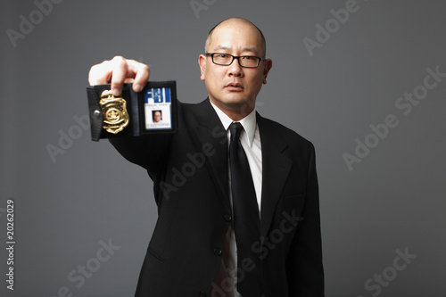 FBI agent with badge.