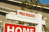 Price Reduced Real Estate Sign & New Home poster