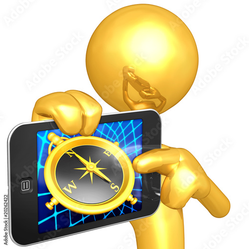 Gold Guy Touch Screen Compass