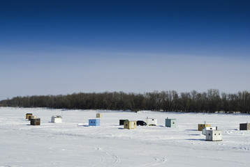 Ice Fishing Sheds