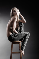 Seated blonde