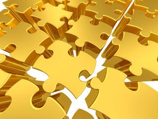 Gold 3d puzzles