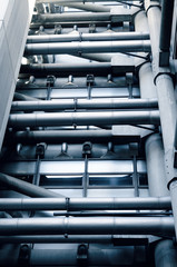 Industrial exterior pipes
