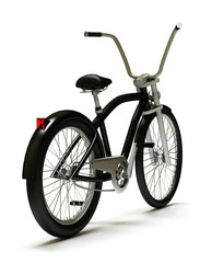 Cruiser bicycle isolated