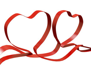 heart shaped red ribbon valentine