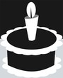 Illustration of cake with candle light