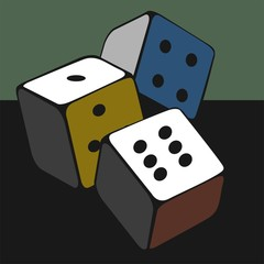 Illustration of three cubes