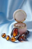 amber bracelet and brooch poster