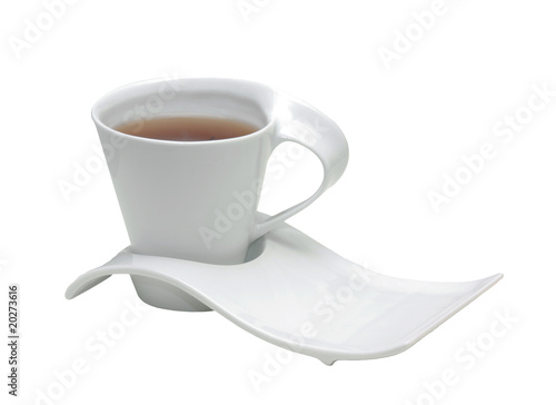 white cap with tea