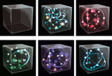 Glass boxes with glowing swirls. EPS10 transparency. poster