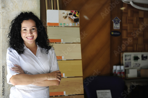 small business: portait of a floor store owner