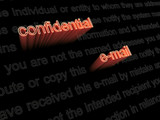 Confidential e-mail diclaimer poster