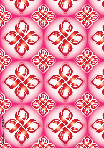 Red Ribbon Pattern