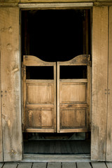 Authentic saloon doors in historic western town, South Dakota
