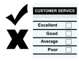 Customer Service feedback form poster