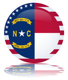 North Carolina Flag Button (Carolinian USA NC Vector Reflection)