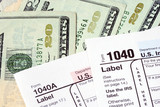 Prepare money to pay tax for the income tax returns poster