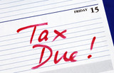 April 15th is the due date for the income tax returns poster