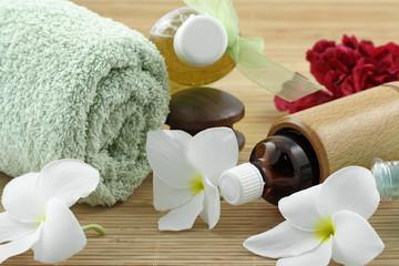 décoration zen massage, fond blanc