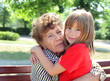 Great-granddaughter with great-grandmother
