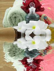 décor zen massage, fond blanc