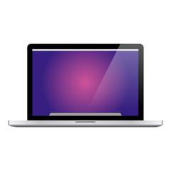 Modern notebook computer vector