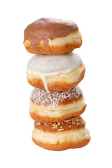 donuts isolated on the white.