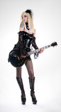 Sexy fetish girl with guitar poster