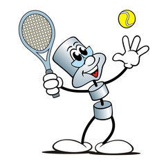 Metall-Figur Tennis