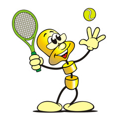 Gold-Figur Tennis