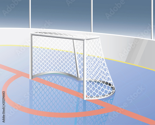 Hockey goal realistic. Vector illustration.