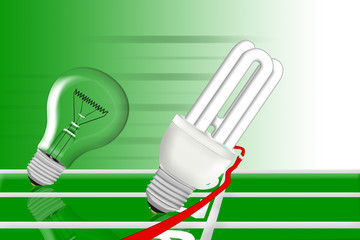 Die Energiesparlampe macht das Rennen