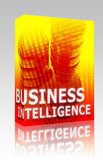 Business intelligence illustration box package poster