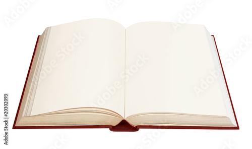 Libro aperto pagine bianche