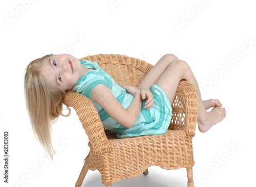 Child relaxing in Chair
