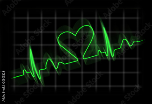 Cardiogram of a person in love