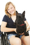 Disabled Girl with Dog poster