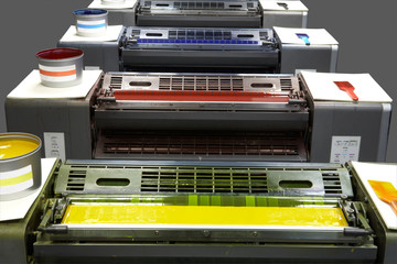 four colour printing press