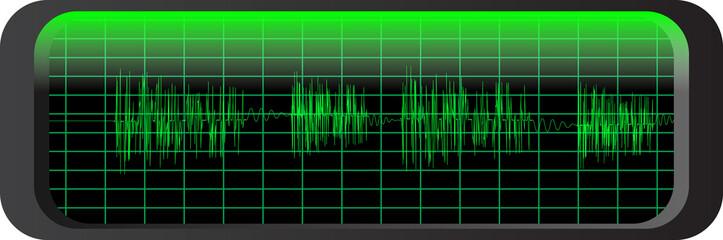 audio wave panel