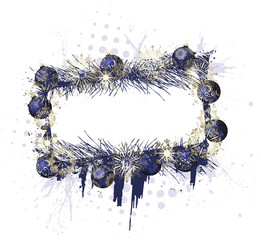 Grunge Christmas Purple Frame