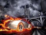 Fototapety Hot car