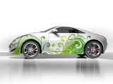 Ecological concept car poster