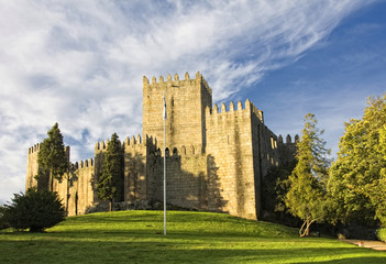 Guimaraes Castle, and surrounding park, in the north of Portugal