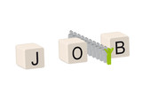 Job gefunden poster