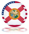 Florida State Round Flag Button (Floridian USA Vector America)